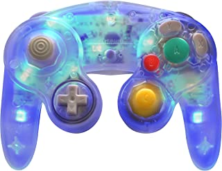 Retro-Link Wired GameCube Style USB Controller - Blue LED