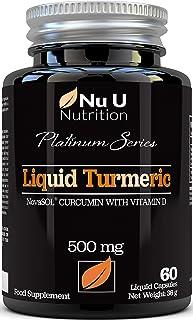 Cápsulas de Cúrcuma Curcumina (Líquidas) con Vitamina D | 185 Veces Más Biodisponibilidad Cur...