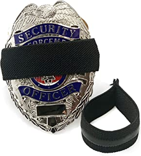 4-Pack Solid Black First Responders Badge with Gripper   Shield Funeral Honor Guard Mourning Band Strap 3/4