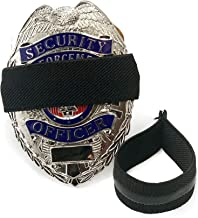 4-Pack Solid Black First Responders Badge with Gripper | Shield Funeral Honor Guard Mourning Band Strap 3/4