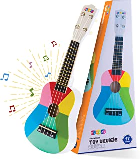 Play22 Kids Guitar Ukulele 17 Inch - 4 Strings Wooden Guitar Kids Ukulele Guitar Musical Instrument Musical Toy Learning E...