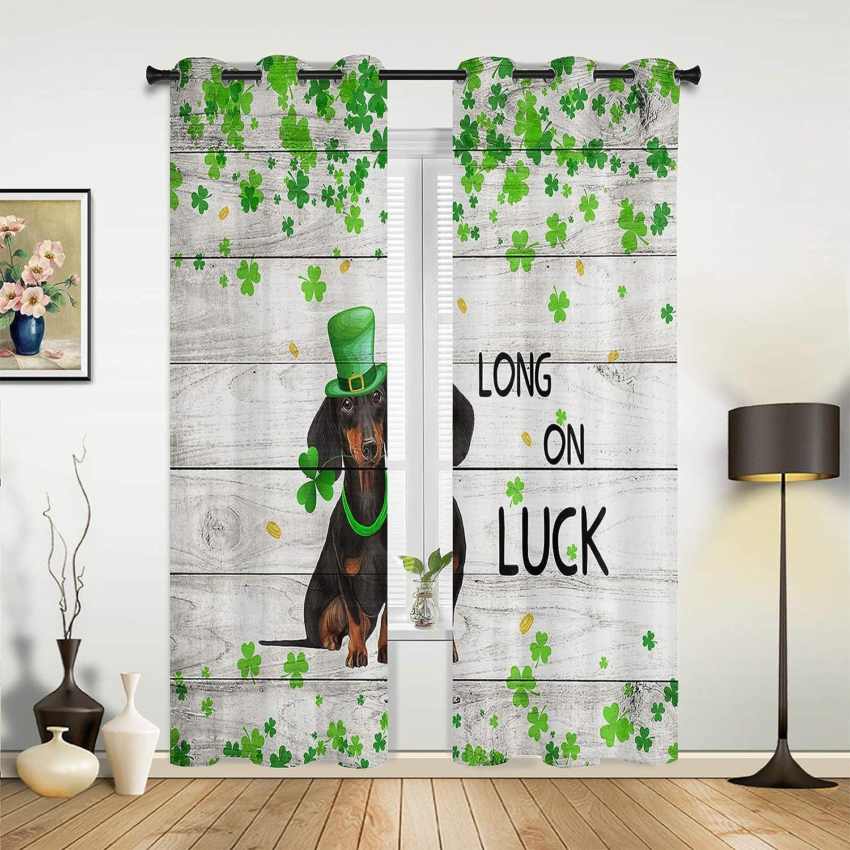 Window Curtains Drapes New product type Panels Happy Patrick's Shamrock Bombing free shipping C St. Day
