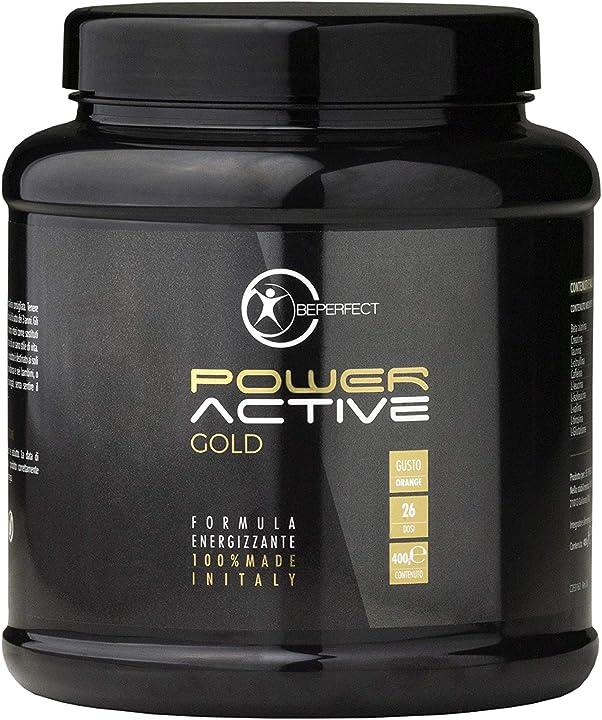 Pre-workout al gusto di arancia beperfect - power active gold 123445