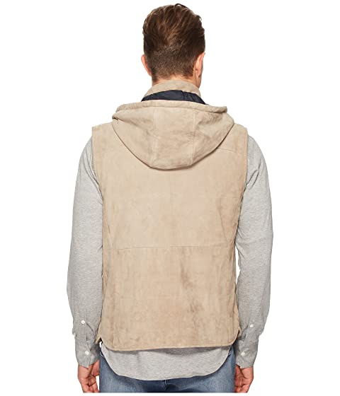 eleventy Suede Snap Front Vest w/ Removable Hood Sand Outlet Discounts Popular Sale Online Sale Low Shipping Outlet Discount Authentic Huge Surprise Cheap Price wWgFphrZq