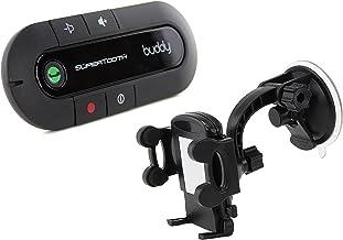 SuperTooth Buddy 2.1 Handsfree Bluetooth Visor Speakerphone Car Kit with Universal In-Car..