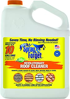 Spray & Forget Revolutionary Roof Cleaner Concentrate, 1 Gallon Bottle, 1 Count,..
