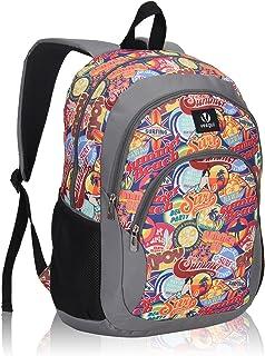 Cool Backpack Kids Sturdy Schoolbags Back to School Backpack for Boys Girls,Orange