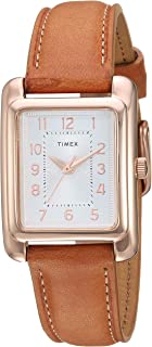 Women's TW2R89500 Meriden Tan/Rose Gold-Tone Leather Strap Watch