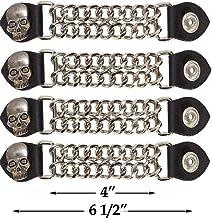 Dont Trend On Me Motorcycle Vest Extender 4 Pack Biker Chain For Men
