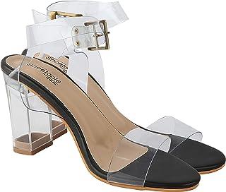 Do Bhai Women Synthtic Material Ankle Strep Block Heel Fashion Sandal (Click)