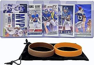 Odell Beckham Jr. (5) Assorted Football Cards Bundle - New York Giants Trading Cards