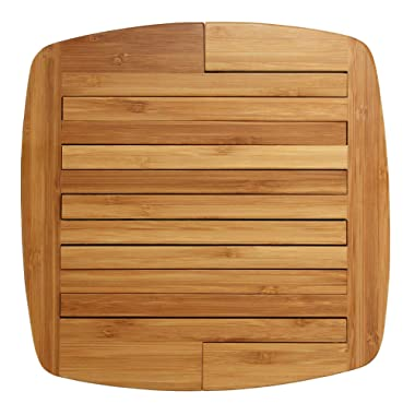 Totally Bamboo Expandable Bamboo Trivet, 8.75  by 8.75 , Brown