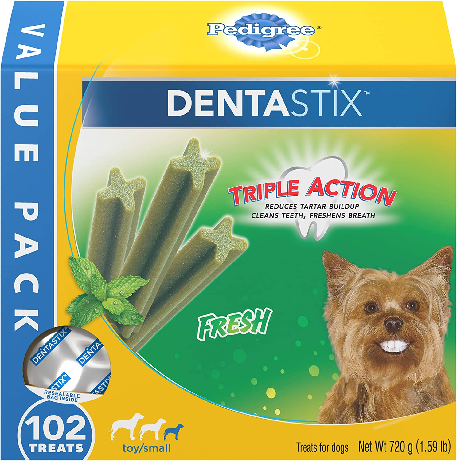Pedigree DENTASTIX Fresh Treats for Toy and 5- Dogs Medium Max 81% OFF Small Gorgeous