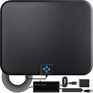 [2018 Latest] Amplified HD Digital TV Antenna Long 65-80 Miles Range – Support 4K 1080p & All Older TV's Indoor Powerful H...