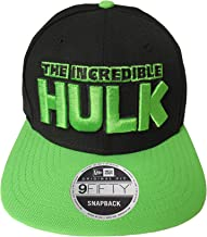 New Era Incredible Hulk Black Lime Snapback Cap 9fifty 950 OSFA Basecap Limited Edition