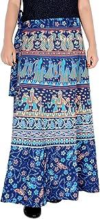 Rajvila Women's Cotton Printed Long 36 Inch Length Regular Wrap Around Skirt Colour (F_W36NT_0007)