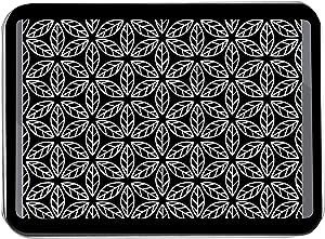 Geometric Line Drawing Floral Pattern in Black & White 9017404 (Keepsake Tin)
