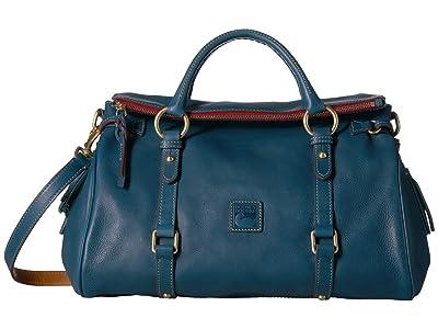 Dooney & Bourke Florentine Vachetta Satchel (Denim/Self Trim) Handbags