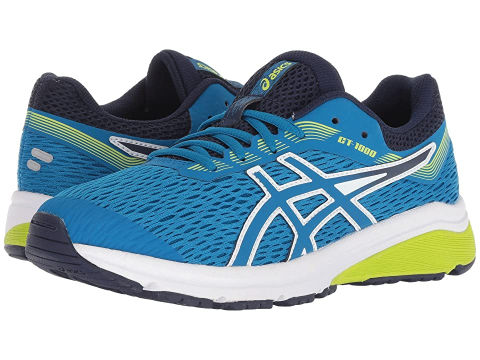 ASICS Kids GT-1000 7 (Big Kid) (Race Blue/Neon Lime) Boys Shoes