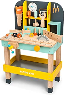 Le Toy Van Alex'S Work Bench Premium Wooden Toys for Kids Ages 3 Years & Up