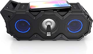 Altec Lansing Super LifeJacket Jolt with Lights, Built in Qi Wireless Charger, Waterproof, Snowproof, Shockproof and it Floats in Water, Up to 30 Hour Battery Life, Black