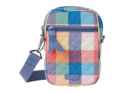 Vera Bradley RFID Convertible Small Crossbody (Tropics Plaid) Handbags