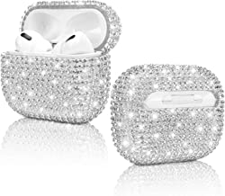 Diamond Airpods Pro Case Hard Protective Airpods Pro Cover Handmade Cute Cases Accessories for Apple Airpods Pro (Silver)