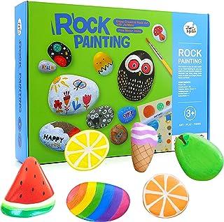 Jar Melo Rock Painting Kits for Kids; Hide & Seek Rock Kits; Crafts for Kids; Acrylic Paint for 10 Rocks; Arts & Crafts Ki...