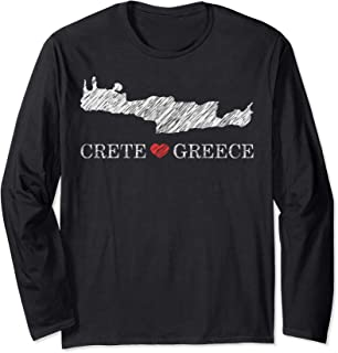 Greece Crete Silhouette Greek Long Sleeve T-Shirt