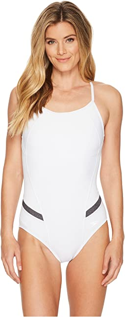 Precision Pleat Flyback Swimsuit