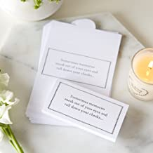 ANGEL & DOVE 25 White Card Funeral Tissue Wraps 'Sometimes Memories Sneak Out of Your Eyes' - Remembrance, Condolence, Celebration of Life, Memorial, Memory Table, Funeral Favors