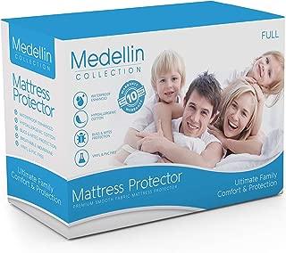 Medellin Collection Premium Hypoallergenic Waterproof Full Mattress Protector - Vinyl Free…