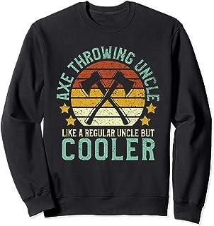 Axe Throwing Uncle   Funny Hatchet & Ax Thrower Gift Sweatshirt