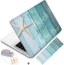 Holilife MacBook Pro 13 Inch Case 2019 2018 2017 2016 Release A2159/A1989/A1706/A1708, Plastic Hard Case Cover Protector with Keyboard Cover Compatible with MacBook Pro 13 - Beach