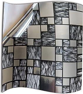 24x Cromo negro plateado Lámina impresa 2d PEGATINAS lisas