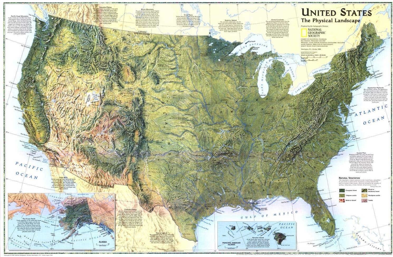 National Geographic: United States Sale price half 1996 The Landscape Physical