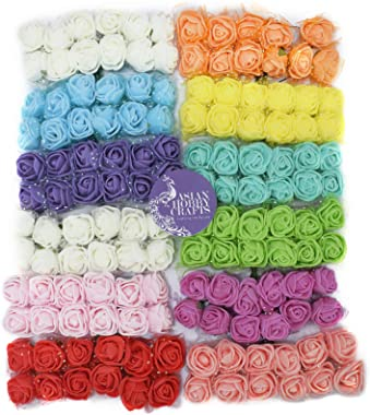Asian Hobby Crafts Artificial Flowers (Multicolour, 12 Piece)