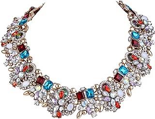 Österreichische Kristall Party Vintage Style Bib Statement Halskette Multicolor
