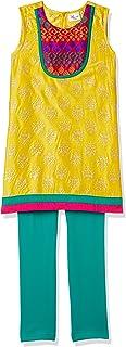 Elaisha Girl's Regular Fit Salwar Kurta Set