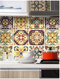 HaokHome 96007 Thick Peel and Stick Moroccan Style Mosaic Tile Patterns Wallpaper 17.7