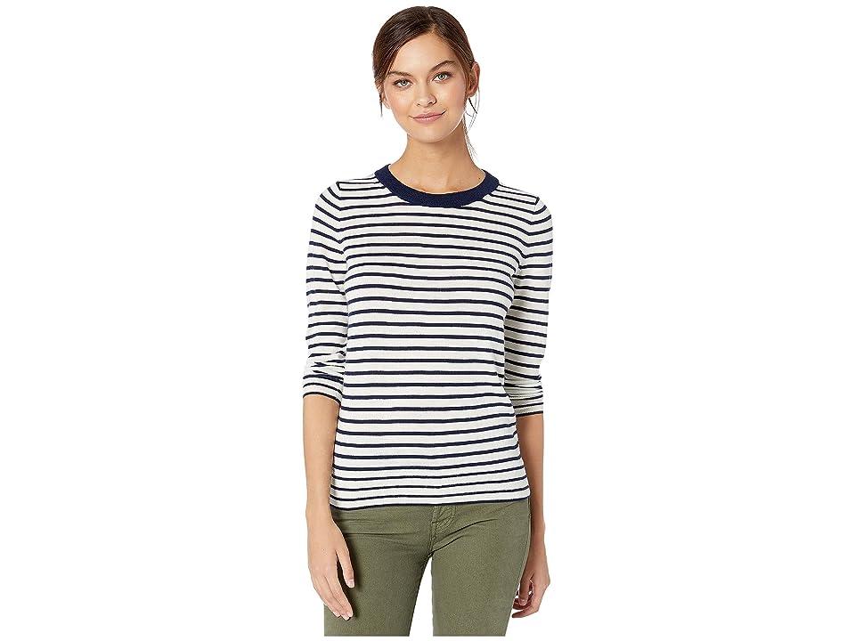 J.Crew Tippi Sweater in Nautical Stripe (Ivory/Navy) Women