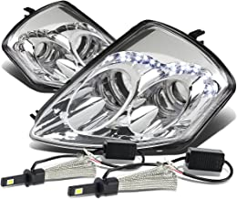 For Mitsubishi Eclipse 3G Pair of Angel Eyes Dual Halo Projector Chrome Housing Headlight + H1 LED Conversion Kit