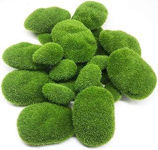 Woohome Mousse Artificielle Rocks Décoratifs, 25 PCS 2 Taille Boules de Mousse Verte pour Arrangements Floraux, Fée Jardin...