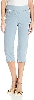 Women's Plus Size Pull-on Extra Stretch Denim Cropped Capri
