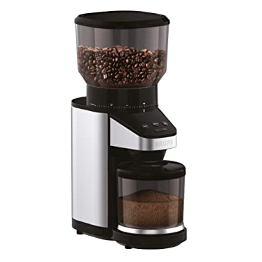 KRUPS offee Grinder with Scale, 39 grind settings, large 14 oz capacity, intuitive interface, Black