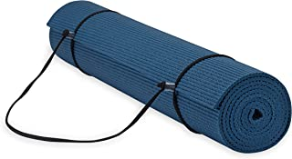 "Gaiam Essentials Premium Yoga Mat with Yoga Mat Carrier Sling (72""L x 24""W x 1/4 Inch Thick)"