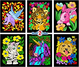 Stuff2Color Dove, Bunny, Kitten, Puppy, Unicorn, Tiger Cub - Six Fuzzy Velvet Posters