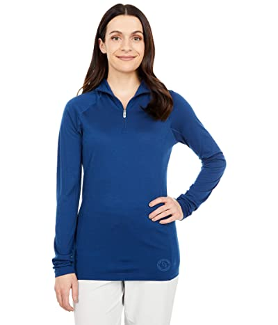 Smartwool Merino 150 Base Layer 1/4 Zip (Indigo Blue) Women