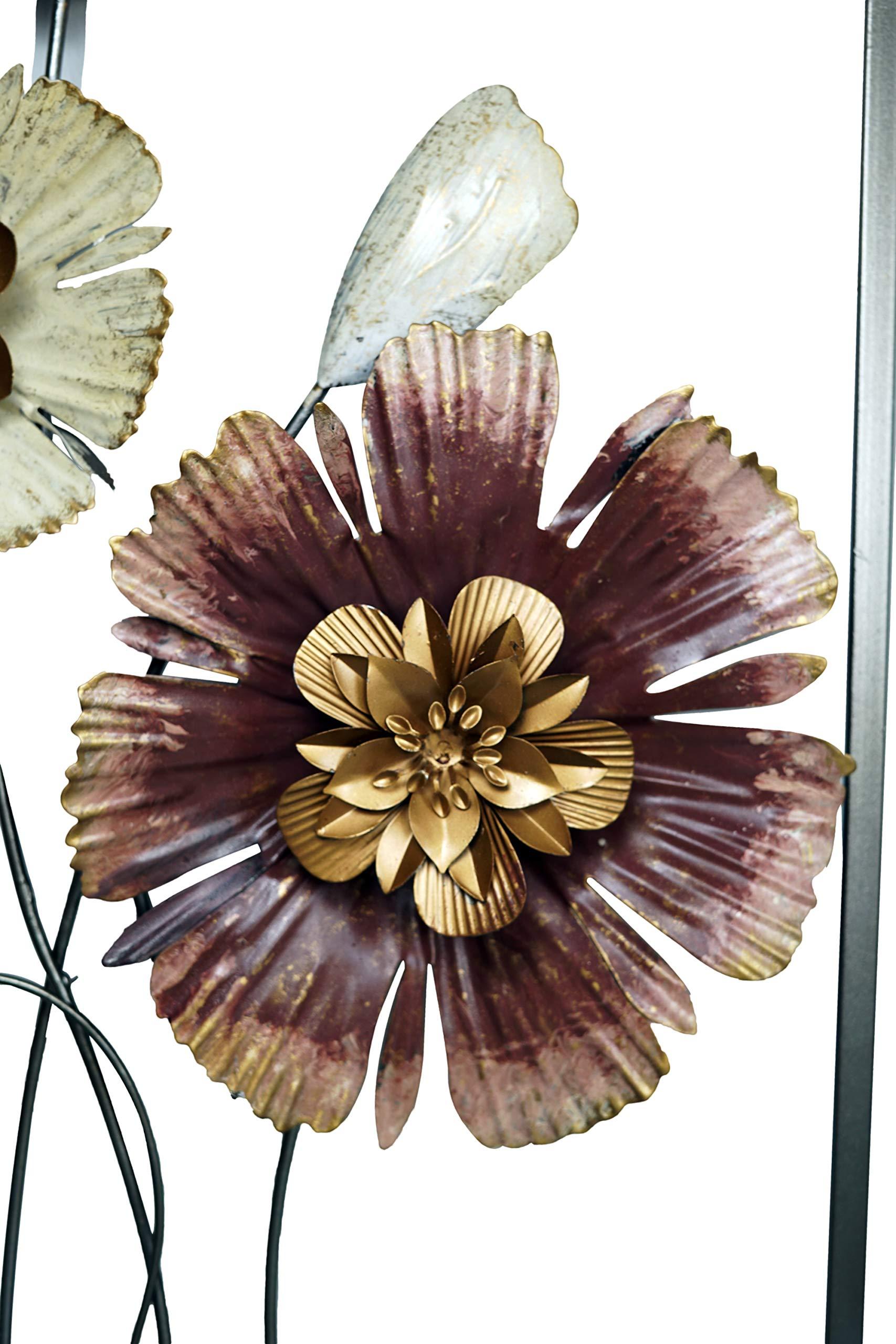 38 x 50 cm Cuadro de Metal dise/ño de Flor khevga