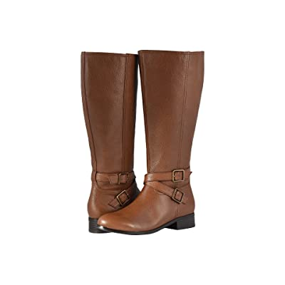 Trotters Liberty Wide Calf (Cognac Soft Tumbled Leather) Women